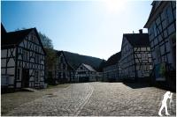 Freilichtmuseeum Fachwerkhäuser Dorfplatz